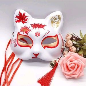 Hand painted cat mask